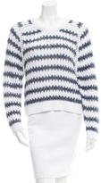 Theyskens' Theory Striped Long Sleeve Sweater