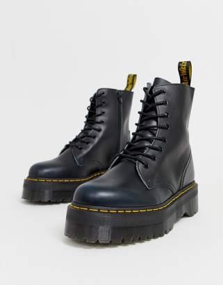Dr. Martens Jadon 8-eye platform boots in blue vintage
