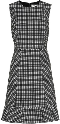 Diane von Furstenberg Reiley checked cotton-blend dress