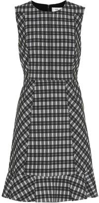 Diane von Furstenberg Reiley checked cotton-blend dress