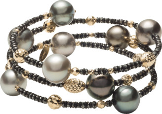 Black Diamond Baggins Tahitian Pearl and Beaded Wrap Bracelet
