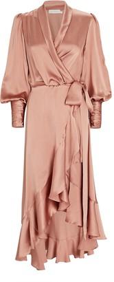 Zimmermann Silk Midi Wrap Dress