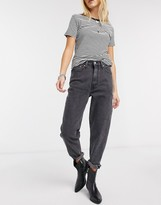 Levi's mom jeans in washed black