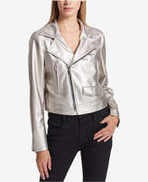 DKNY Metallic Moto Jacket