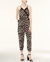 Bar III Giraffe-Print Jumpsuit, Created for Macy's
