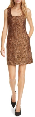 Kate Spade Flora leopard jacquard a-line dress