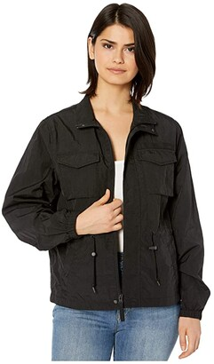 Alpha Industries M-65 Nylon Mod Field Coat (Black) Women's Clothing