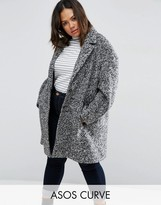 Asos Coat In Cocoon Texture