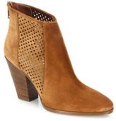 Diane von Furstenberg Auletta Perforated Suede Booties