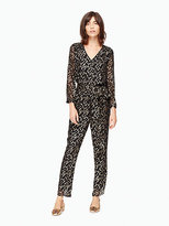Kate Spade Metallic clipped dot jumpsuit