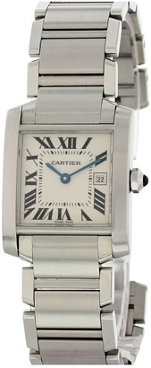 Cartier Tank Francaise Silver Steel Watches