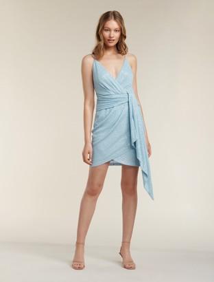 Forever New Catalina Sequin Mini Dress - Powder Blue - 10
