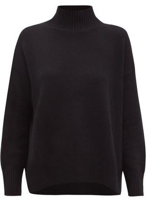 Allude High-neck Cashmere Sweater - Black