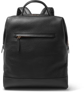 Globe-trotter Grained-leather Backpack - Black