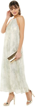 JLO by Jennifer Lopez Women's Chain Halter Maxi Dress