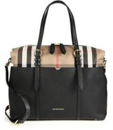 Burberry Mason Leather & Check Baby Bag