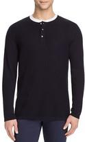 Vince Cotton Cashmere Mix Stitch Henley Sweater