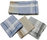 OWM Handkerchiefs Dozen Hankie Gift Set Classic Cotton Striped Handkerchiefs for Men