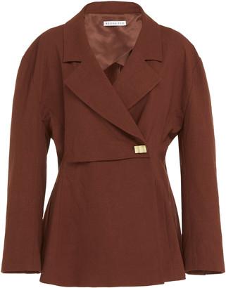 REJINA PYO Jodie Wool-Blend Wrap Jacket