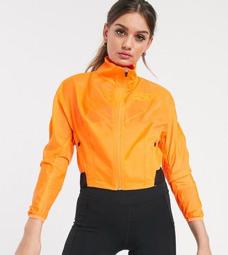 ASOS 4505 Petite zip through crop jacket in neon