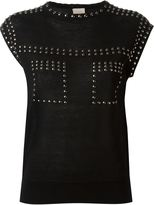 Laneus 'Borchie' top - women - Cotton/Aluminium - 40