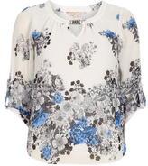 Dorothy Perkins Billie & blossom White/Blue Border Blouse