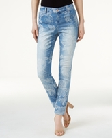 INC International Concepts Petite Floral Jacquard Skinny Jeans, Created for Macy's