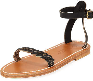 K. Jacques Mathis Braided Leather Sandals