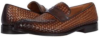 Bruno Magli Arezzo Woven (Cognac/Dark Brown) Men's Shoes