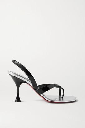 Christian Louboutin Taralita 85 Patent-leather Slingback Sandals - Black