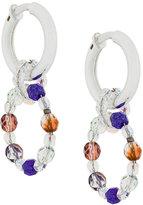 Armani Collezioni interlinking hoop beaded earrings