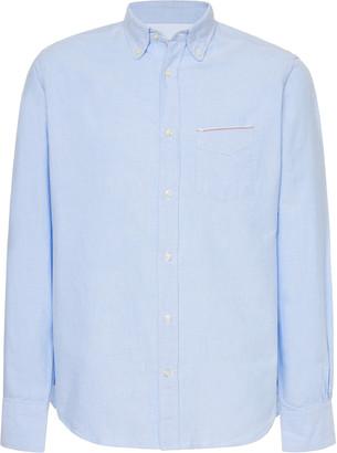 Officine Generale Cotton-Linen Button-Up Shirt