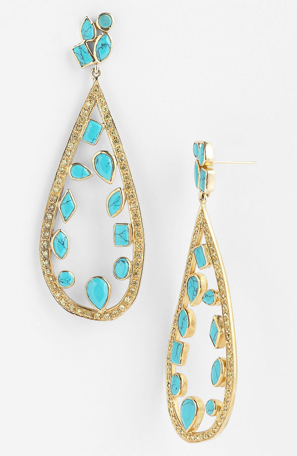 Melinda Maria 'Floating Mosaic' Open Teardrop Earrings