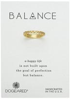 Dogeared Balance Braided Bar Ring
