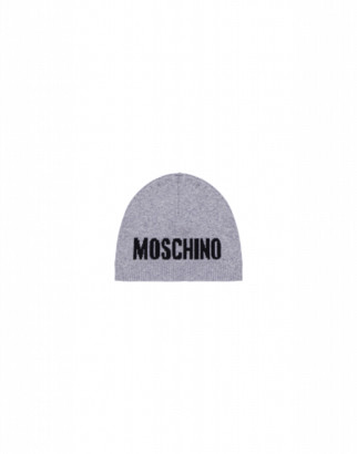 Moschino Cotton Knit Hat With Logo