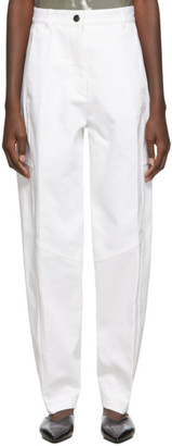 Victoria Beckham White High-Waisted Panelled Trousers