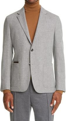 Ermenegildo Zegna Informale Herringbone Wool & Cashmere Sport Coat