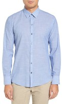 Zachary Prell Men's Ronan Trim Fit Stripe Sport Shirt