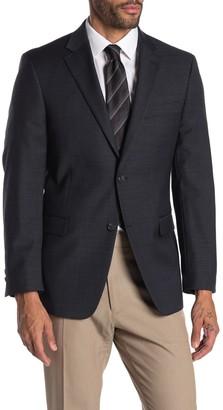 Tommy Hilfiger Gray Grid Two Button Notch Lapel Suit Separate Sport Coat