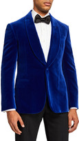 Ralph Lauren Purple Label Men's Solid Velvet Dinner Jacket, Blue