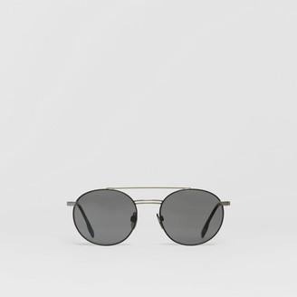 Burberry Top Bar Detail Round Frame Sunglasses