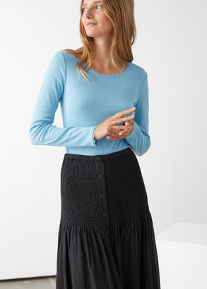 And other stories Long Sleeve Lace Top