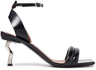 McQ Quilted Glossed-leather Sandals