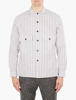 Cmmn Swdn Striped Cotton Levy Shirt