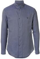 Emporio Armani logo embroidered check shirt