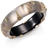 Alexis Bittar Lucite & Crystal Striped Bangle Bracelet