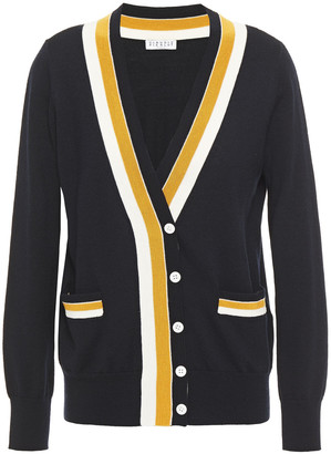 Claudie Pierlot Striped Wool Cardigan