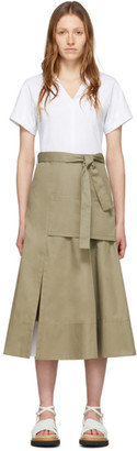 3.1 Phillip Lim White and Taupe Utility T-Shirt Dress
