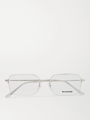 Balenciaga Square-Frame Silver-Tone Optical Glasses