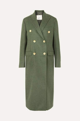 Giuliva Heritage Collection Cindy Double-breasted Merino Wool Coat - Forest green